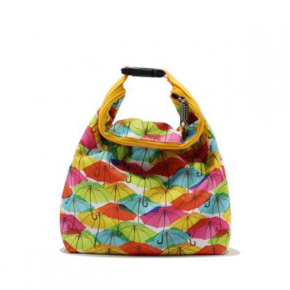 сумка косметичка комплект с ручкой цветная зонтики спереди маленькая