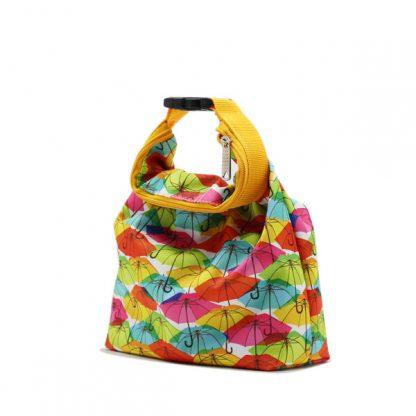 сумка косметичка комплект с ручкой цветная зонтики сбоку маленькая
