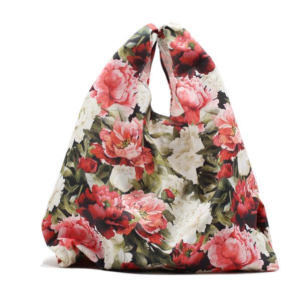 сумка пакет шоппер простая компактная прочная принтованная цветы