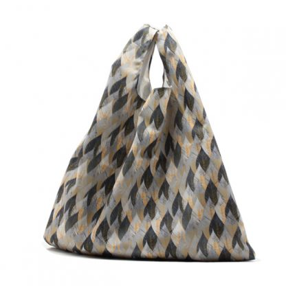 сумка пакет шоппер простая компактная прочная принтованная цветы листы спереди