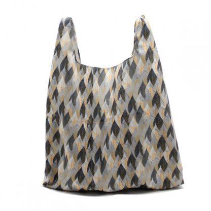 сумка пакет шоппер простая компактная прочная принтованная цветы листы