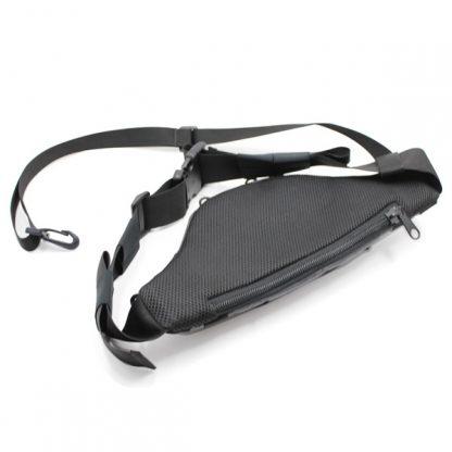 сумка поясная через плечо для пистолета для ружья серая сзади