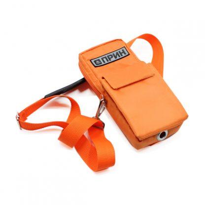 сумка чехол для прибора маленькая поясная оранжевый сбоку