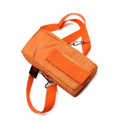 сумка чехол для прибора маленькая поясная оранжевый сзади