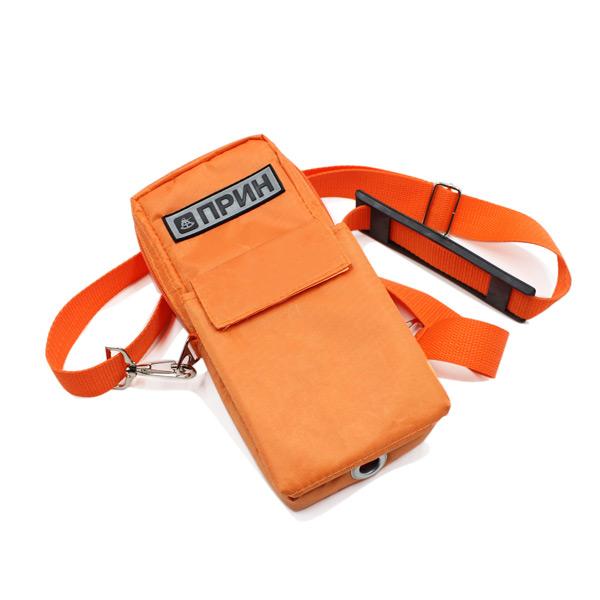 сумка чехол для прибора маленькая поясная оранжевый спереди
