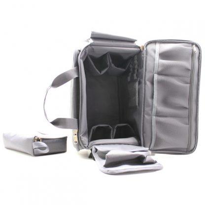 сумка для медицинского оборудования серая большая спереди внутри