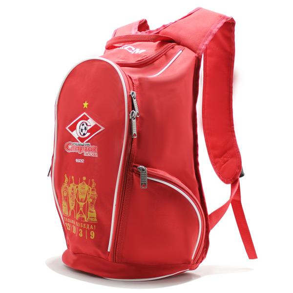 рюкзак спортивный спартак футбол фирменный стиль красный сбоку