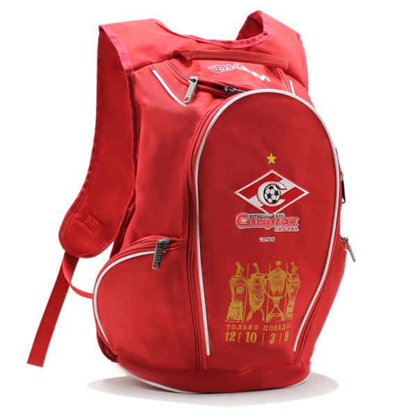 рюкзак спортивный спартак футбол фирменный стиль красный логотип