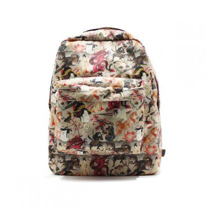 рюкзак простой принтованный унисекс фирменный стиль спереди