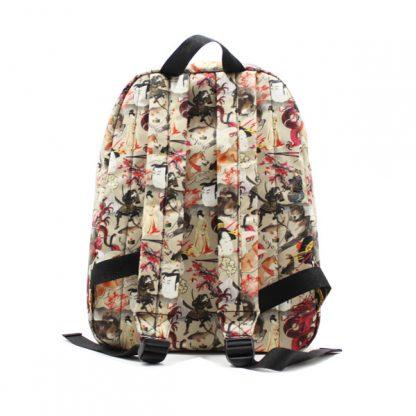 рюкзак простой принтованный унисекс фирменный стиль сзади