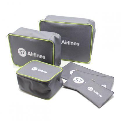 сумка дорожная набор чехол комплект в чемодан косметичка серый комплект