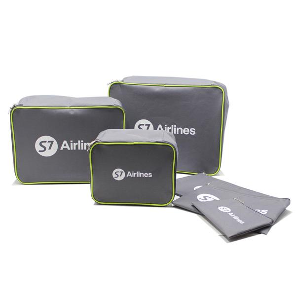 сумка дорожная набор чехол комплект в чемодан косметичка серый спереди