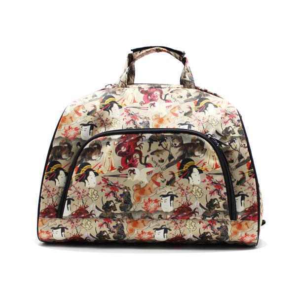 сумка дорожная небольшая универсальная унисекс принтованная спереди