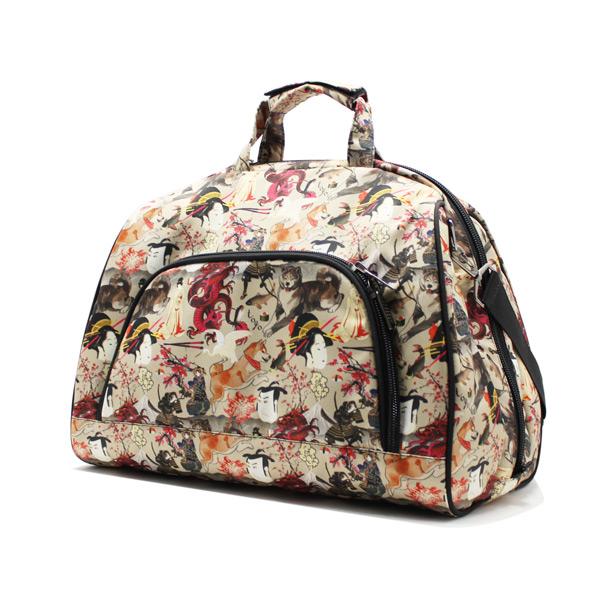 сумка дорожная небольшая универсальная унисекс принтованная сбоку