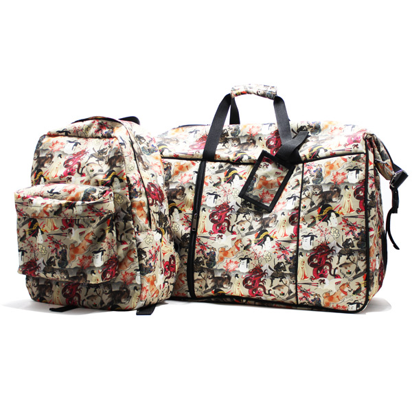 сумка дорожная спортивная большая принт унисекс комплект рюкзак