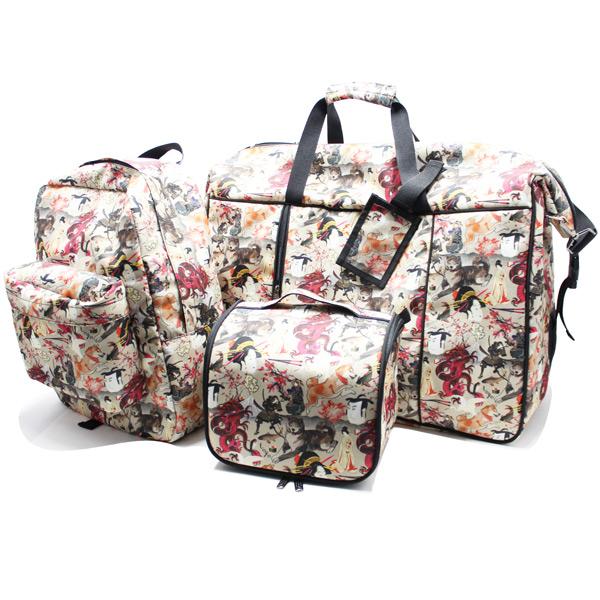 сумка дорожная спортивная большая принт унисекс комплект косметичка