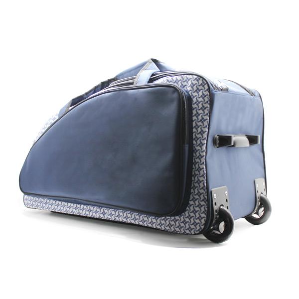 сумка колёсная спортивная дорожная багаж большая синяя дно