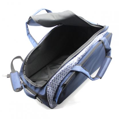 сумка колёсная спортивная дорожная багаж большая синяя внутри