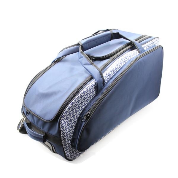 сумка колёсная спортивная дорожная багаж большая синяя сверху