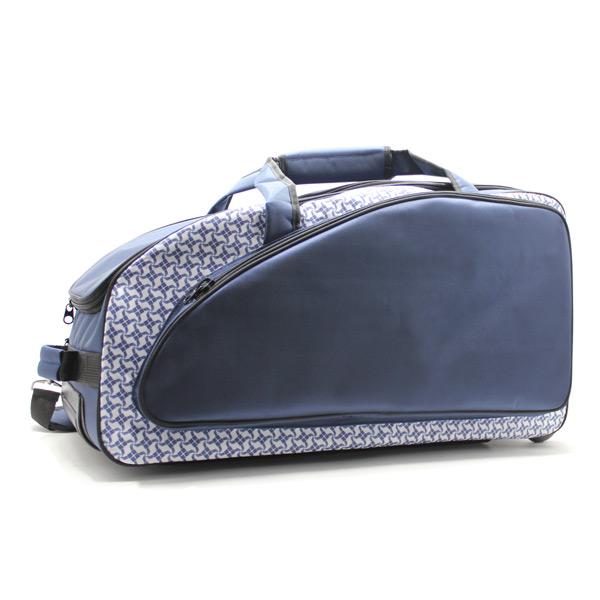 сумка колёсная спортивная дорожная багаж большая синяя сбоку