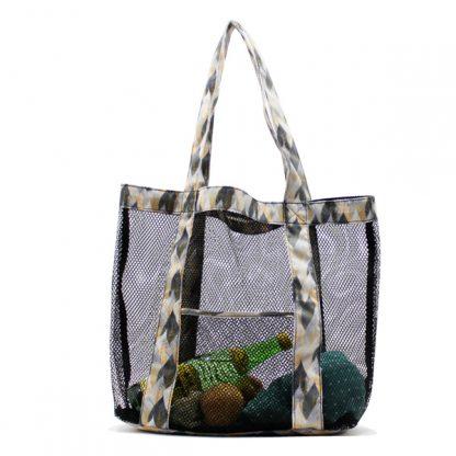 сумка пляжная из сетки промо лето спереди
