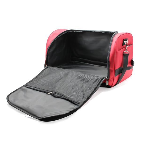 сумка ручная кладь самолёт компактная для путешествий красная внутри