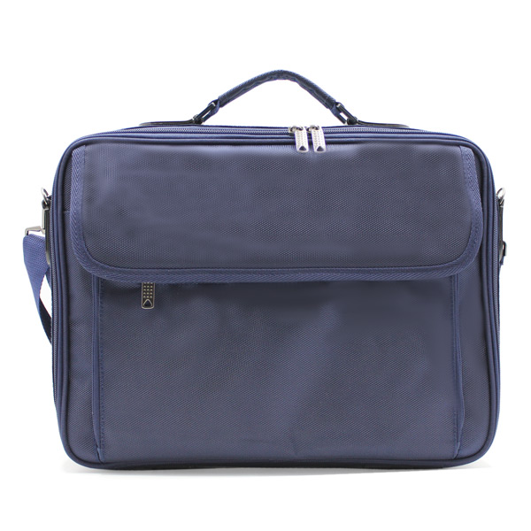 портфель деловой мужской для ноутбука синий деловой спереди
