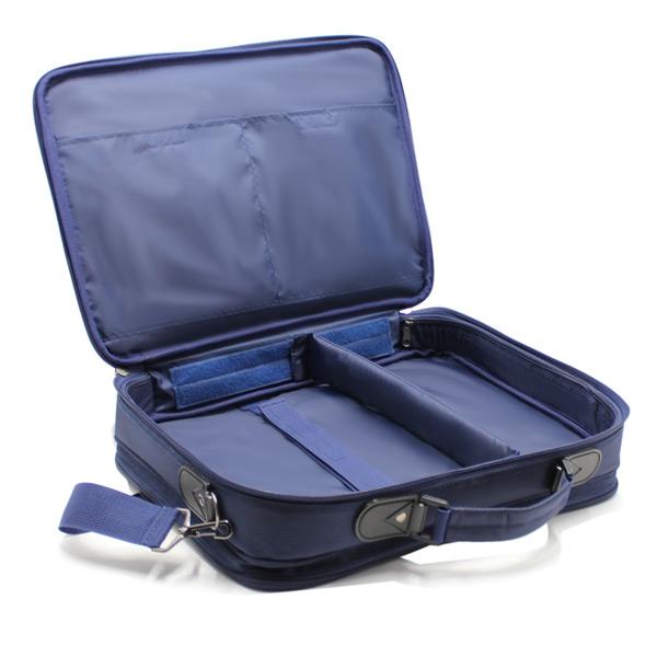 портфель деловой мужской для ноутбука синий деловой внутри