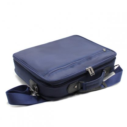 портфель деловой мужской для ноутбука синий деловой сзади