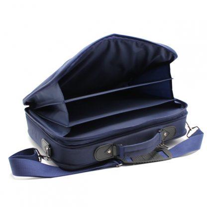 портфель деловой мужской для ноутбука синий деловой для бумаг