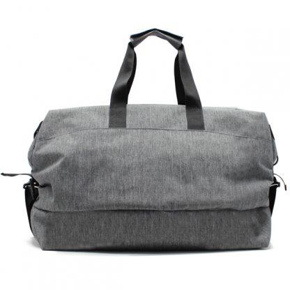 сумка дорожная ручная кладь спортивная серая унисекс спереди