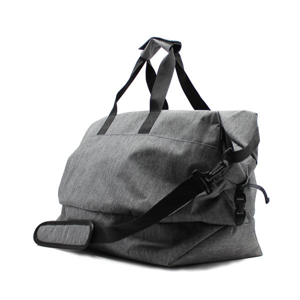 сумка дорожная ручная кладь спортивная серая унисекс с ремнём