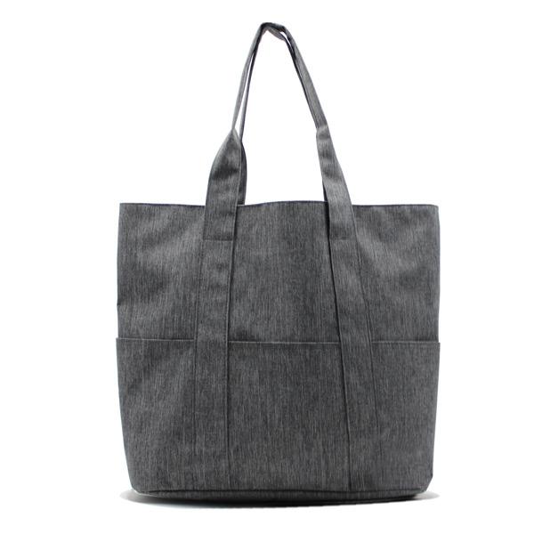 сумка пляжная городская с карманами серая женская спереди