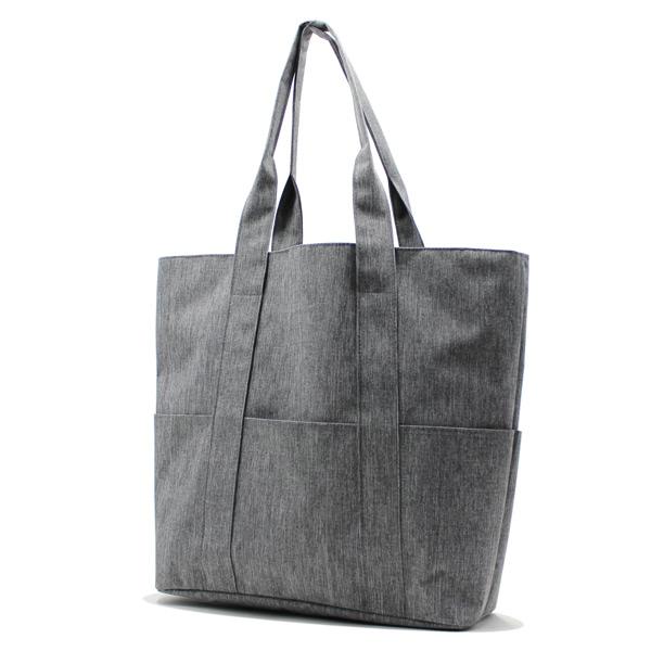 сумка пляжная городская с карманами серая женская сбоку