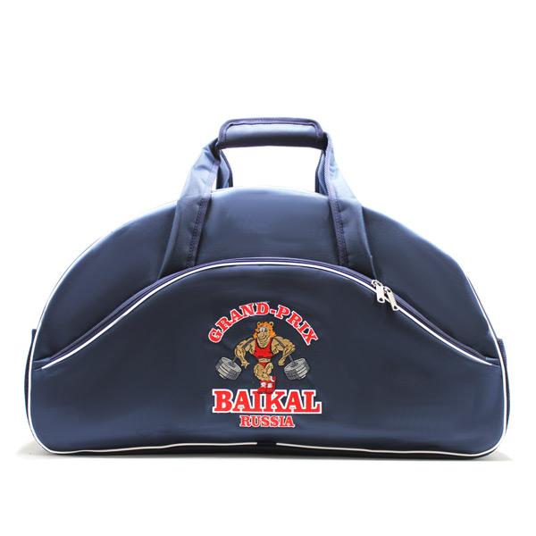 сумка спортивная клуб фирменный стиль бодибилдинг спереди