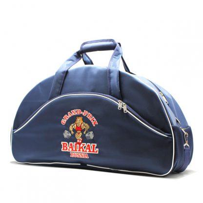сумка спортивная клуб фирменный стиль бодибилдинг сбоку