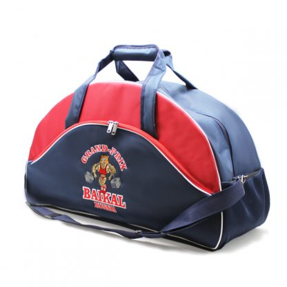 сумка спортивная клуб фирменный стиль бодибилдинг красная