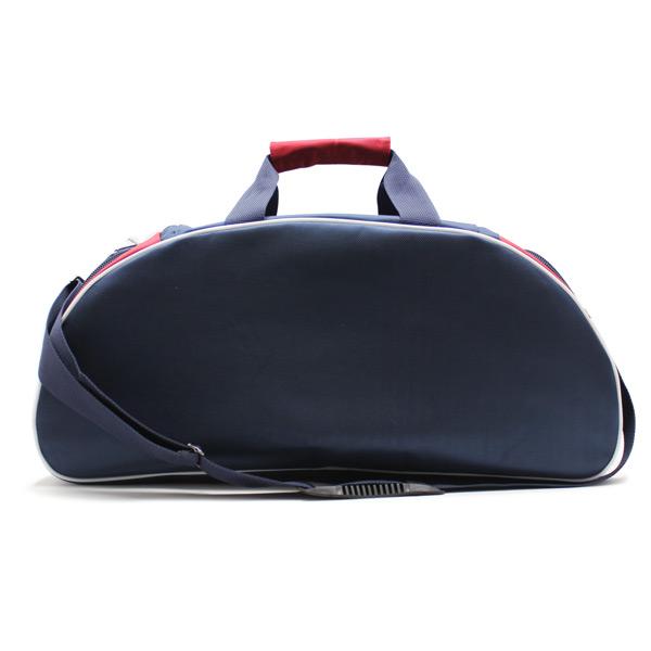 сумка спортивная для фитнеса синий белый красный спереди
