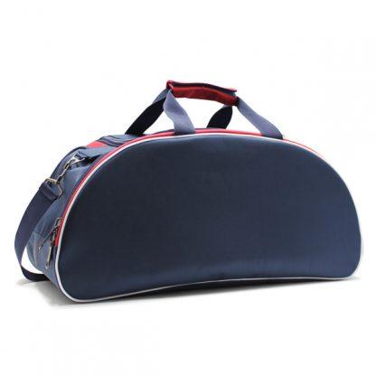 сумка спортивная для фитнеса синий белый красный сбоку