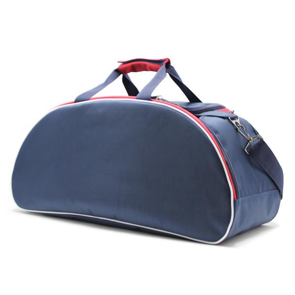 сумка спортивная для фитнеса синий белый красный ремень