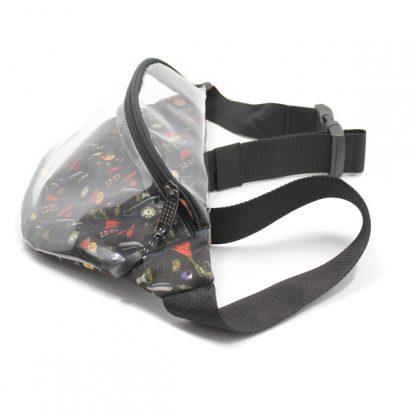 сумка на пояс прозрачная с принтом сбоку