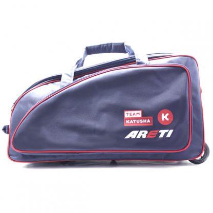 сумка колёсная спортивная синяя Катюша спереди