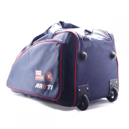 сумка колёсная спортивная синяя Катюша дно