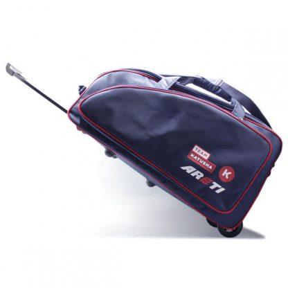 сумка колёсная спортивная синяя Катюша сбоку