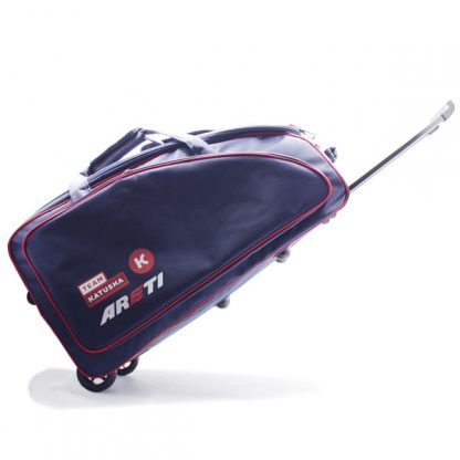 сумка колёсная спортивная синяя Катюша карман