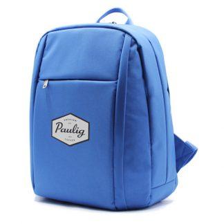 рюкзак городский синий для промо с логотипом сбоку