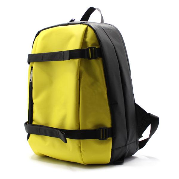 рюкзак городский жёлтый для ноутбука сбоку