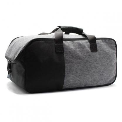 сумка для путешествий ручная кладь серая сбоку