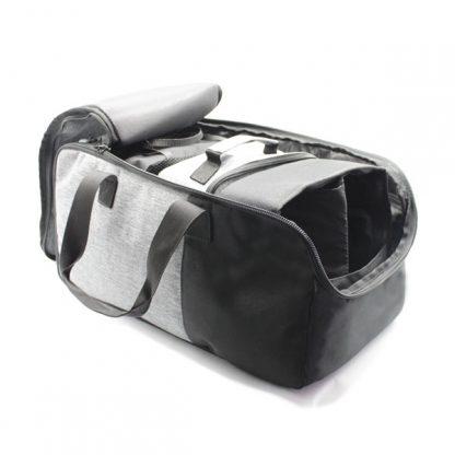 сумка для путешествий ручная кладь серая внутри