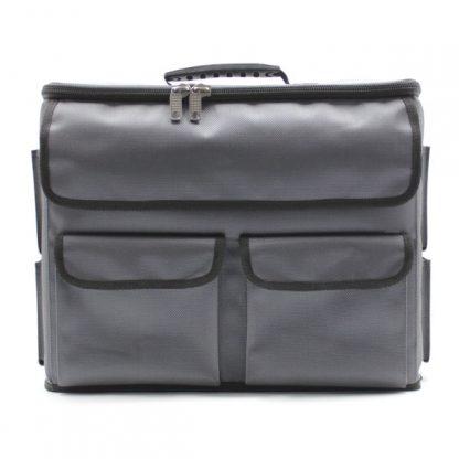 сумка чехол для хранения и транспортировки оборудования серый спереди